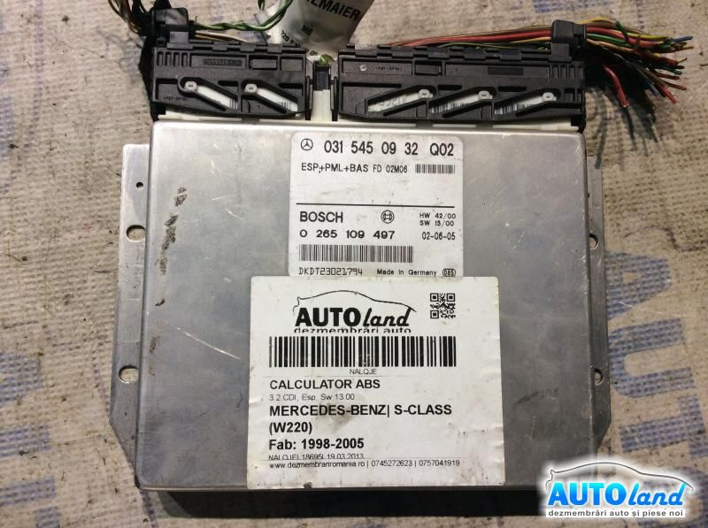 Calculator ABS MERCEDES-BENZ S-CLASS (W220) 1998-2005 Cod 0315450932Q02