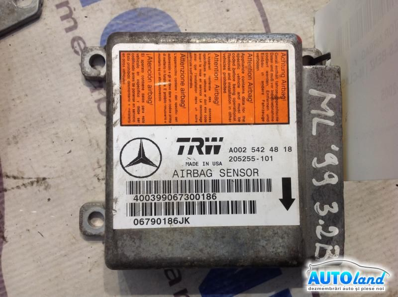 Calculator Airbag MERCEDES-BENZ M-CLASS (W163) 1998-2005 Cod A0025424818