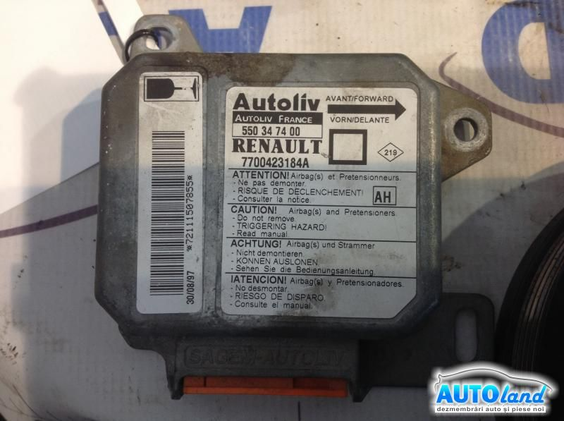 Calculator Airbag RENAULT MEGANE I (BA0/1_) 1996-2003 Cod 7700423184A