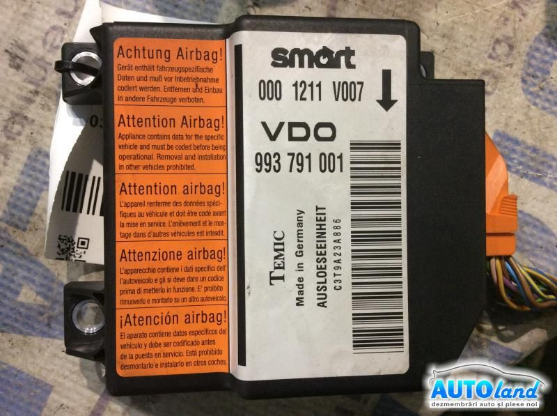 Calculator Airbag SMART CITY-COUPE (MC01) 1998-2004 Cod 0001211V007
