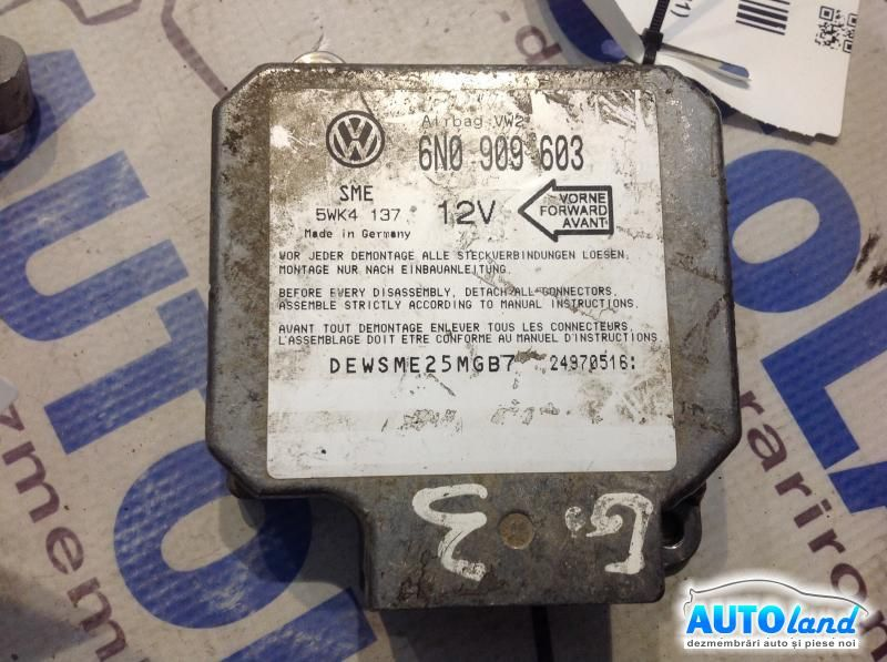 Calculator Airbag VOLKSWAGEN GOLF III (1H1) 1991-1997 Cod 6N0909603