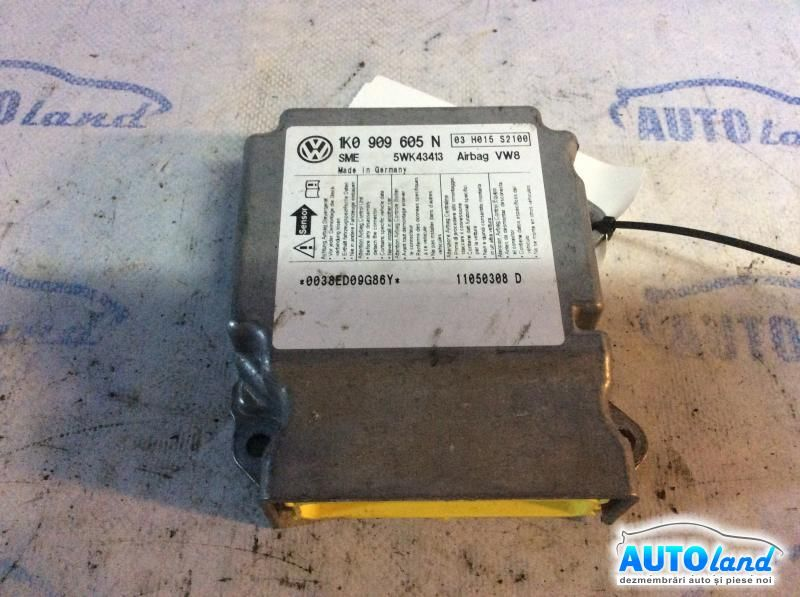 Calculator Airbag VOLKSWAGEN GOLF PLUS (5M1,521) 2005-2018 Cod 1K0909605N
