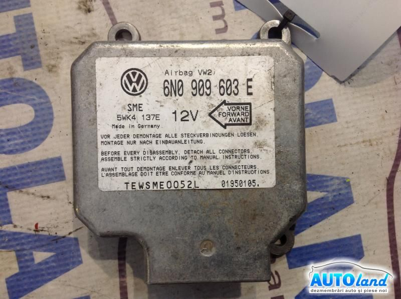 Calculator Airbag VOLKSWAGEN POLO (6N1) 1994-1999 Cod 6N0909603E