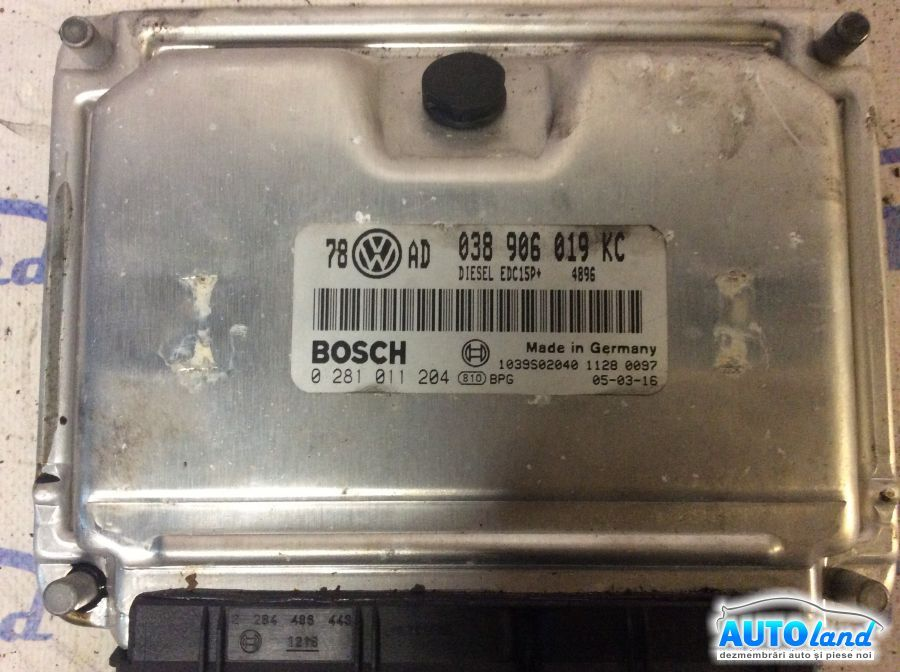 Calculator Motor VOLKSWAGEN PASSAT (3B3) 2000-2005 Cod 038906019KC