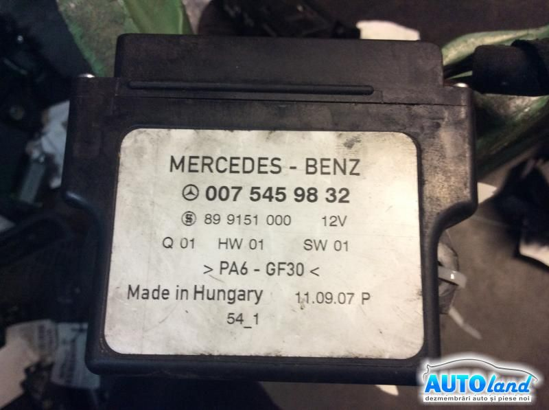 Releu Buji MERCEDES-BENZ SPRINTER 3-t bus (903) 1995-2006 Cod 0075459832